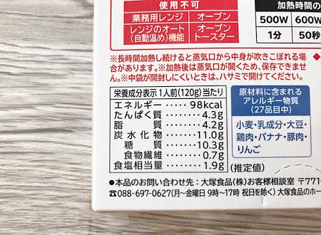 カレーの栄養成分