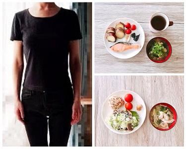 bmi18.0の体型と食事例